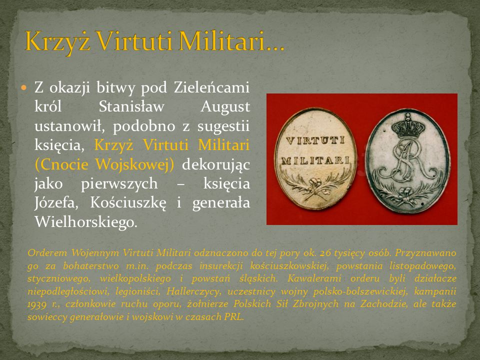 Krzyż Virtuti Militari…