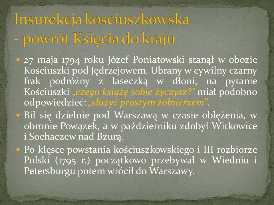 Insurekcja kosciuszkowska - powrót Księcia do kraju
