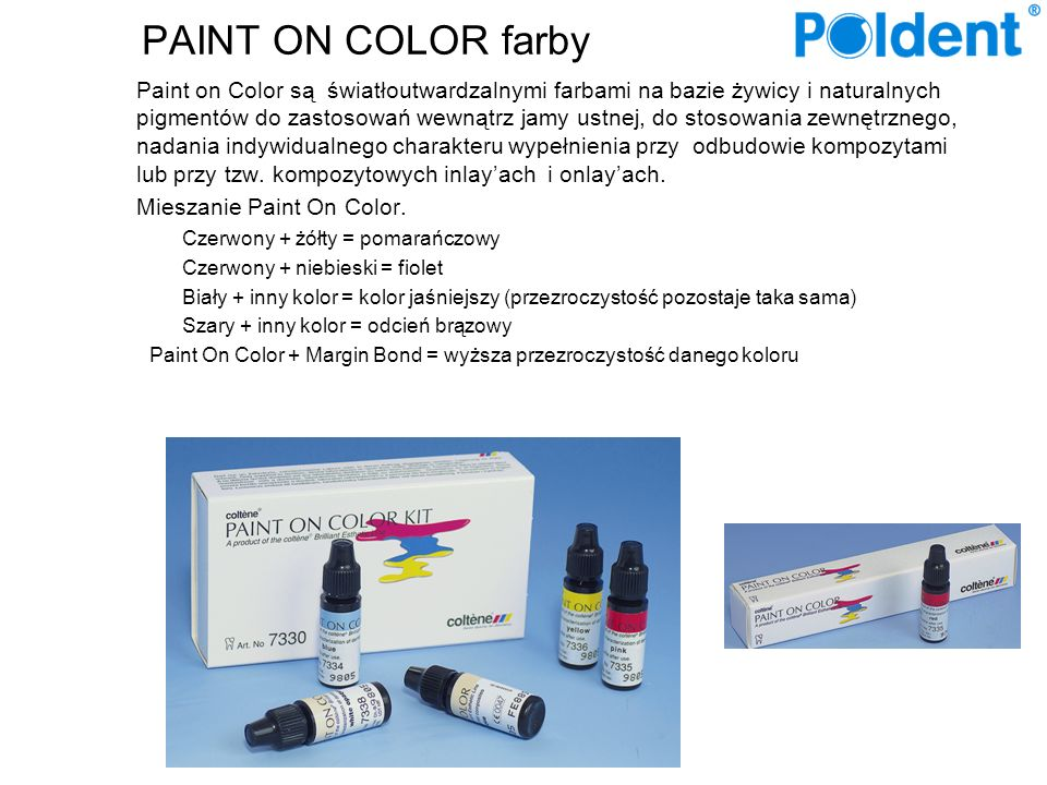 PAINT ON COLOR farby