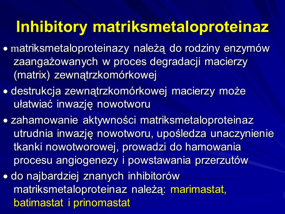 Inhibitory matriksmetaloproteinaz