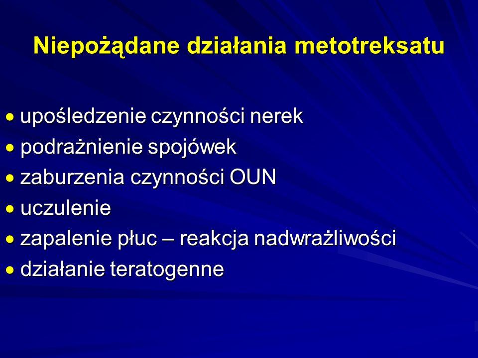 Niepożądane działania metotreksatu