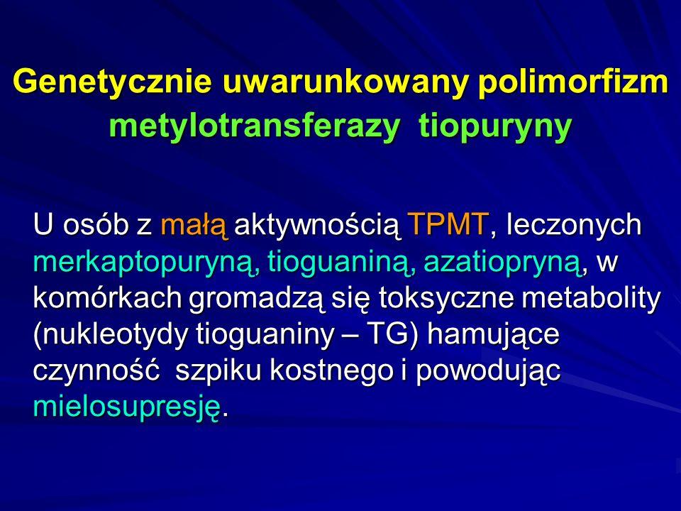 Genetycznie uwarunkowany polimorfizm metylotransferazy tiopuryny