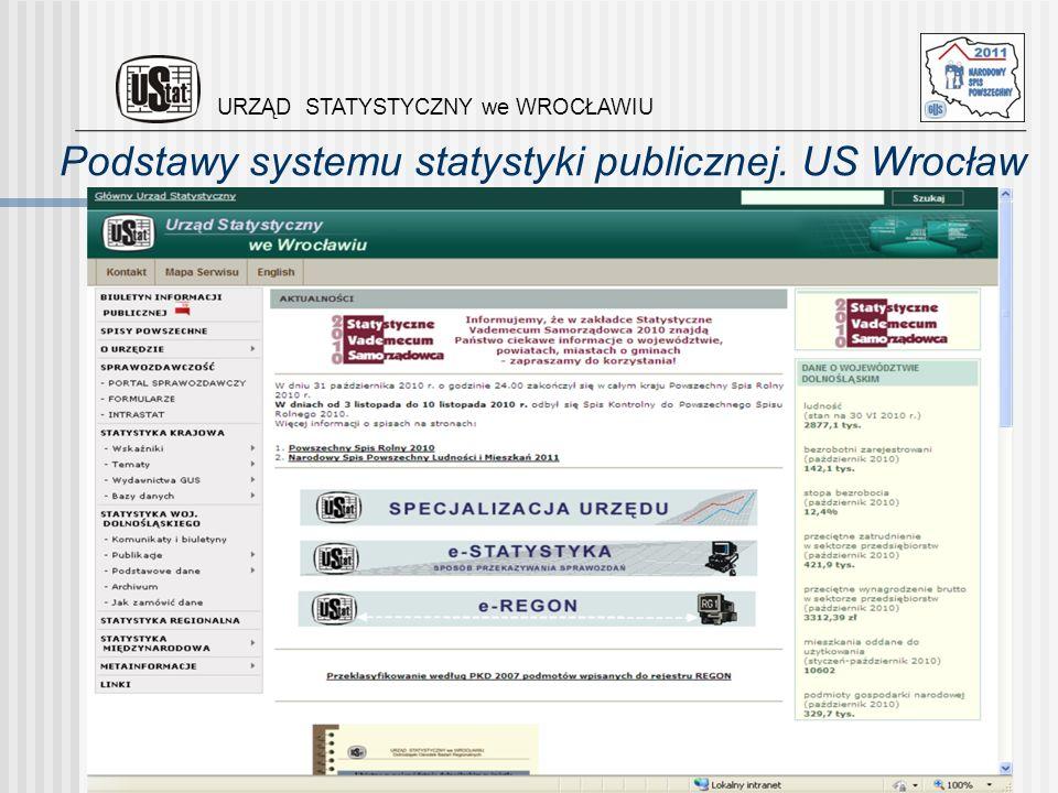 Podstawy systemu statystyki publicznej. US Wrocław
