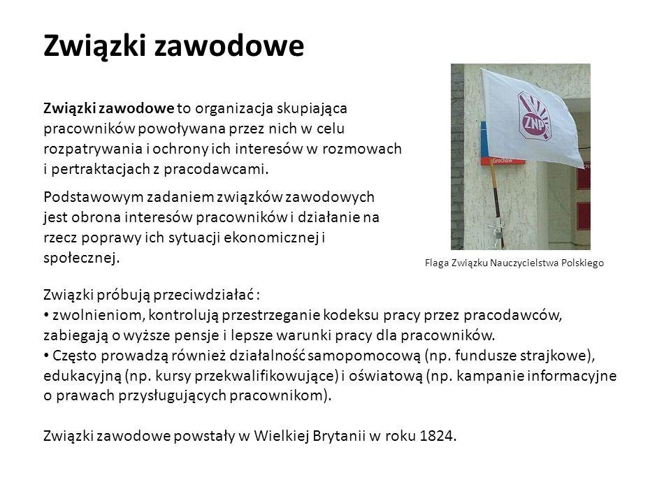 Związki zawodowe Flaga Związku Nauczycielstwa Polskiego.
