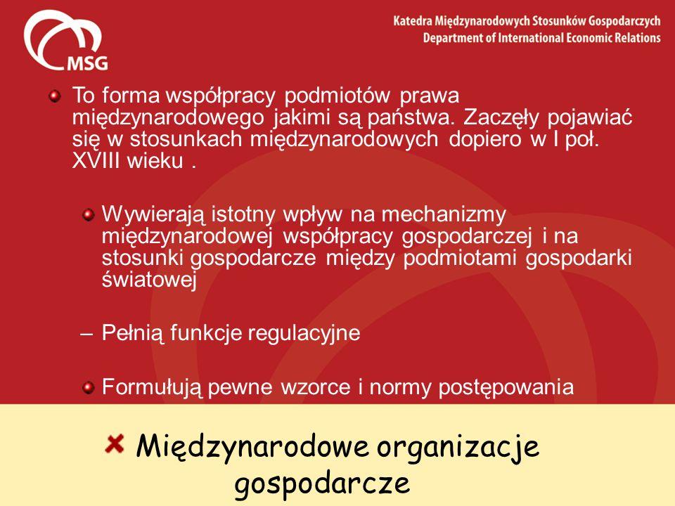 Międzynarodowe organizacje gospodarcze
