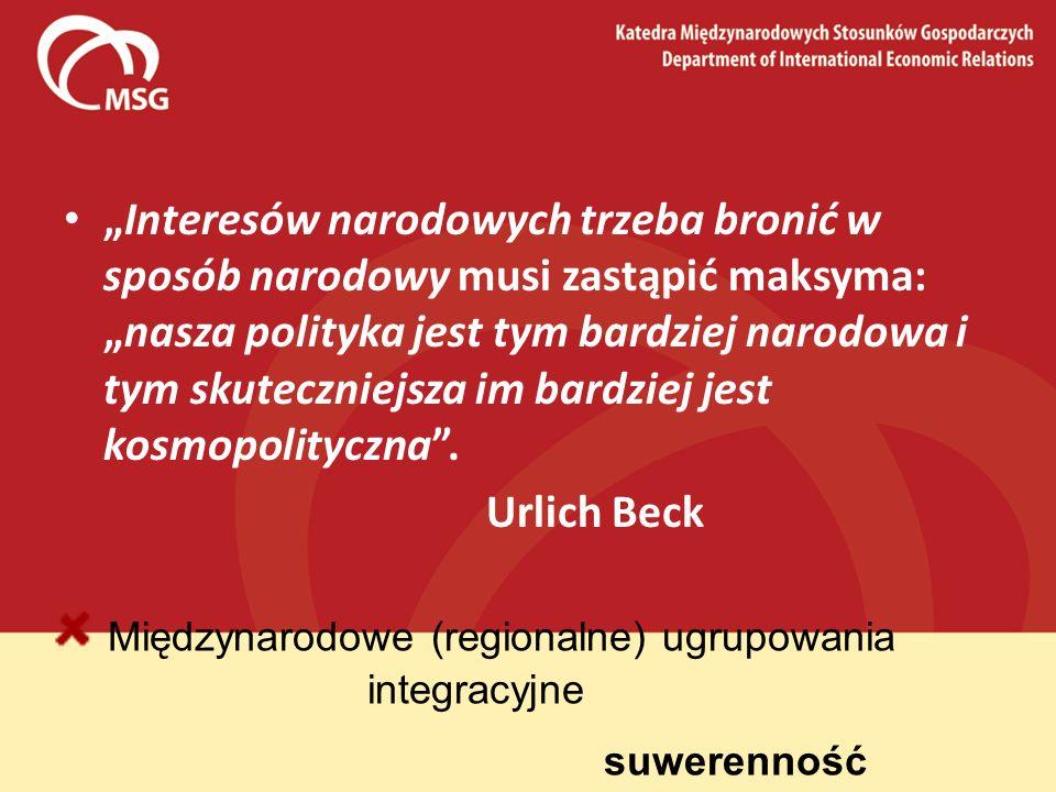 Międzynarodowe (regionalne) ugrupowania integracyjne suwerenność