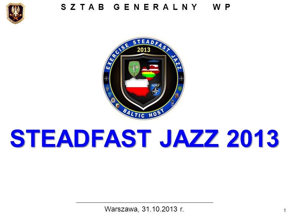 SZTAB GENERALNY WP Warszawa, 31.10.2013 r. Panie …, Szanowni Państwo,
