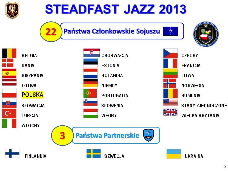 STEADFAST JAZZ 2013 22 3 Państwa Członkowskie Sojuszu