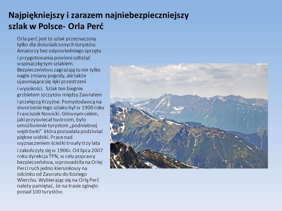 Najpiękniejszy i zarazem najniebezpieczniejszy szlak w Polsce- Orla Perć