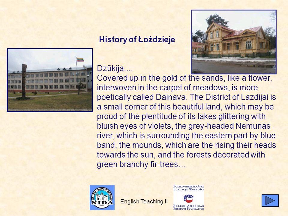 History of Łoździeje Dzūkija....