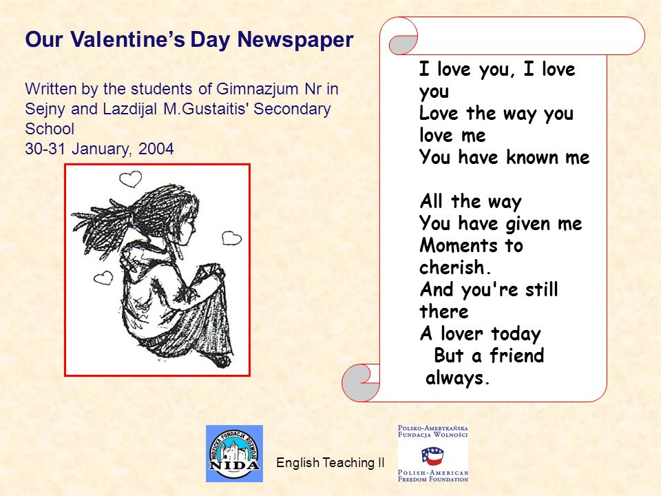 Our Valentine's Day Newspaper