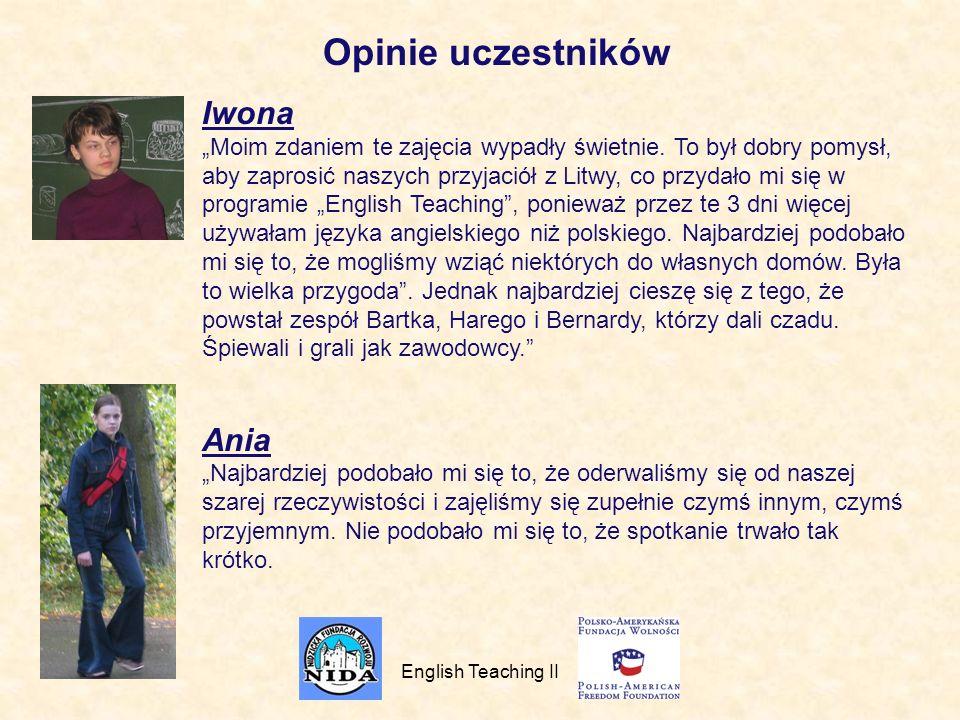 Opinie uczestników Iwona Ania