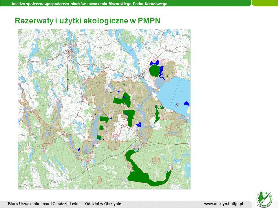 Rezerwaty i użytki ekologiczne w PMPN
