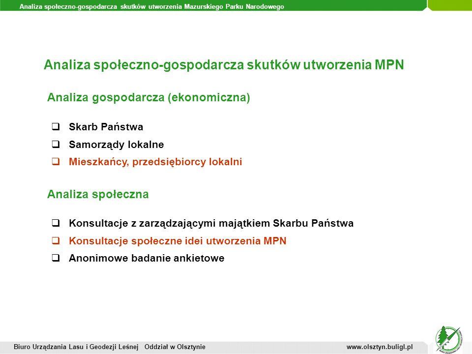 Analiza społeczno-gospodarcza skutków utworzenia MPN