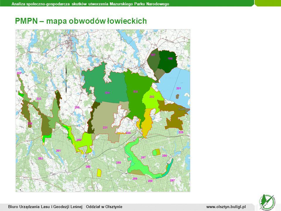 PMPN – mapa obwodów łowieckich