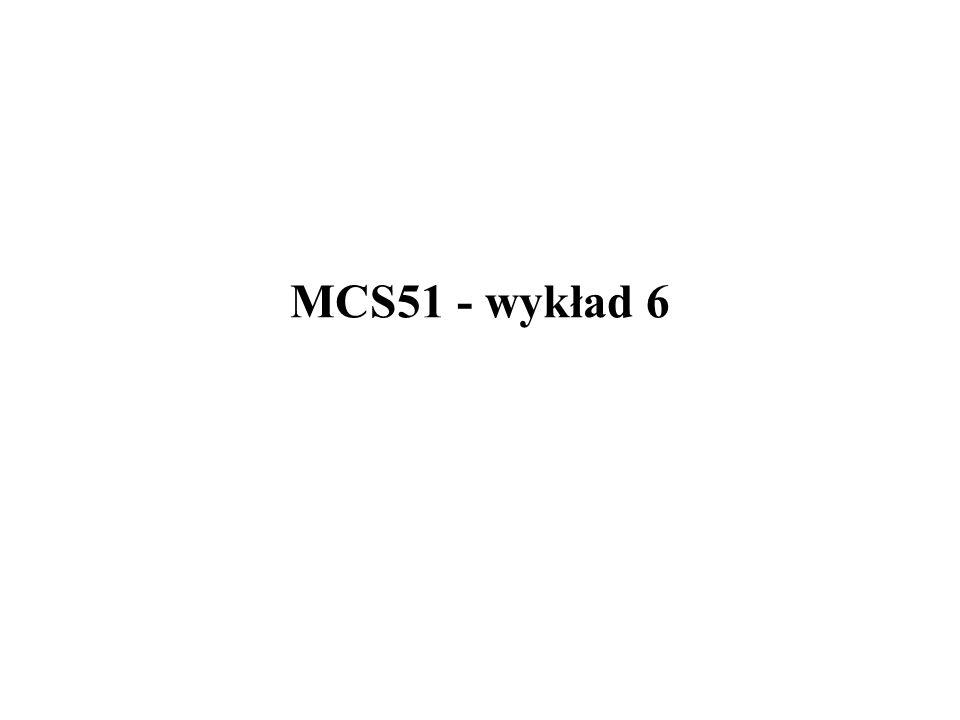 MCS51 - wykład 6