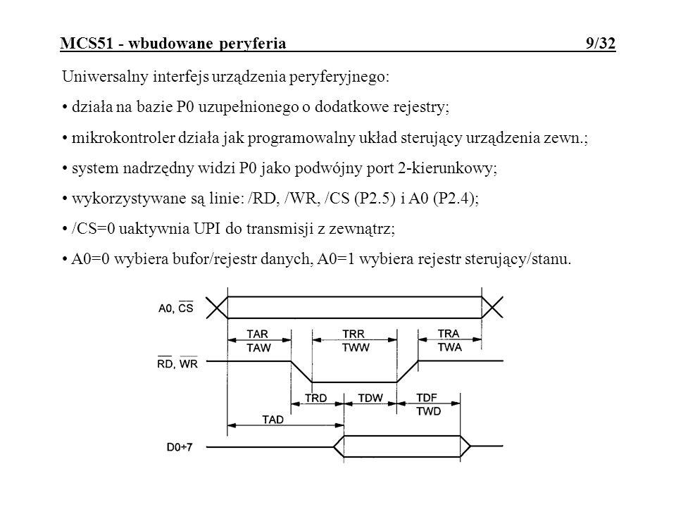 MCS51 - wbudowane peryferia 9/32