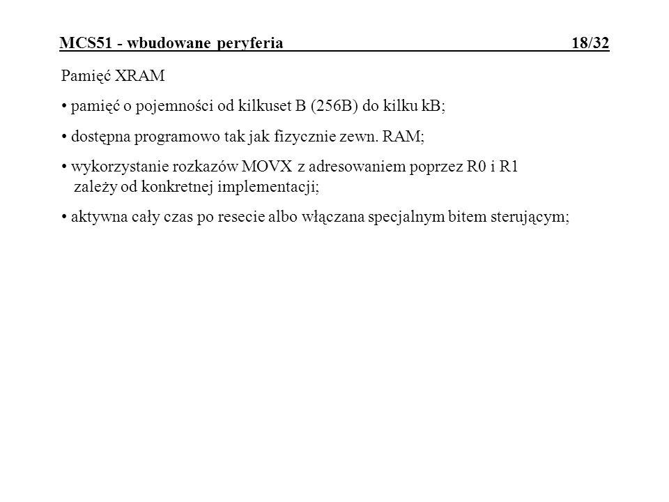 MCS51 - wbudowane peryferia 18/32