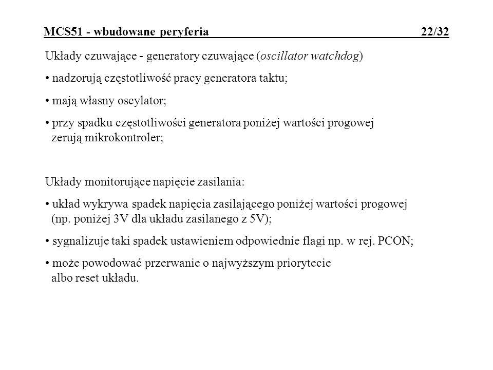 MCS51 - wbudowane peryferia 22/32