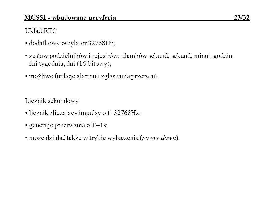 MCS51 - wbudowane peryferia 23/32