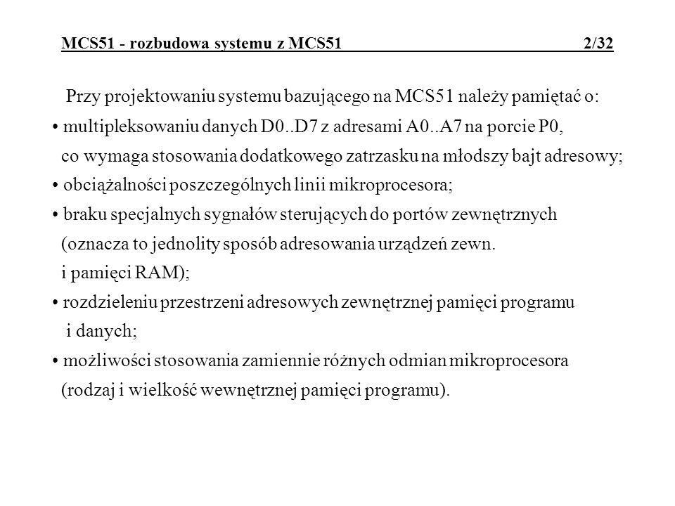 MCS51 - rozbudowa systemu z MCS51 2/32