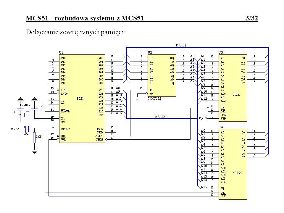 MCS51 - rozbudowa systemu z MCS51 3/32