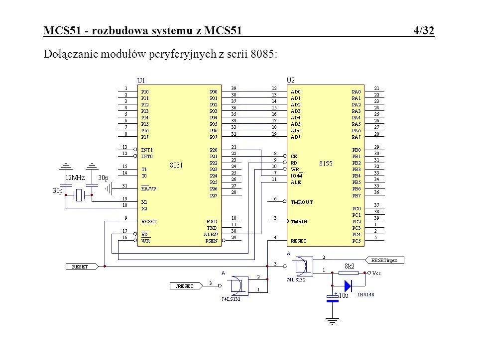 MCS51 - rozbudowa systemu z MCS51 4/32