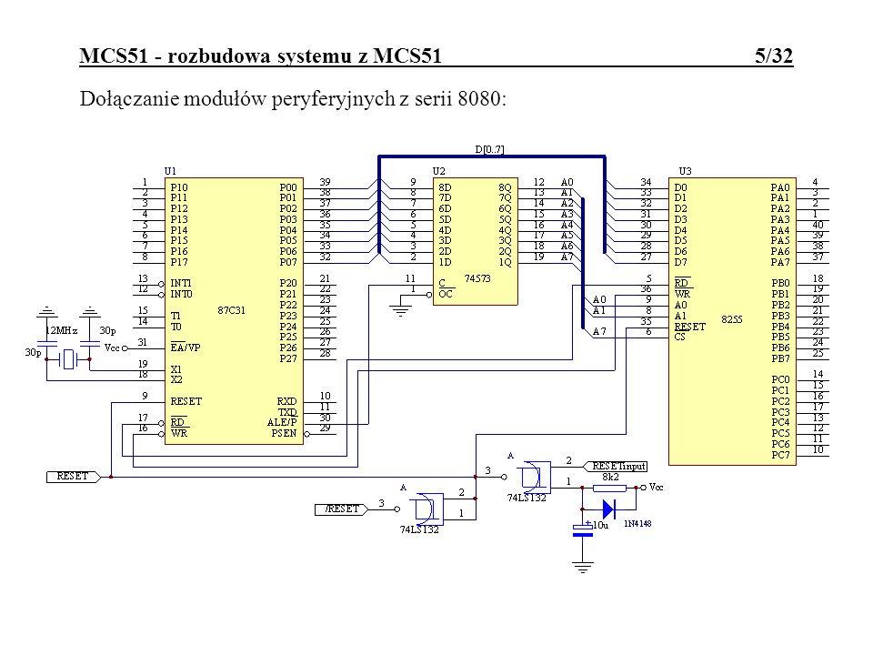 MCS51 - rozbudowa systemu z MCS51 5/32