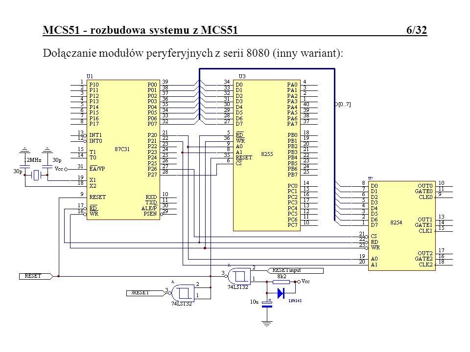 MCS51 - rozbudowa systemu z MCS51 6/32