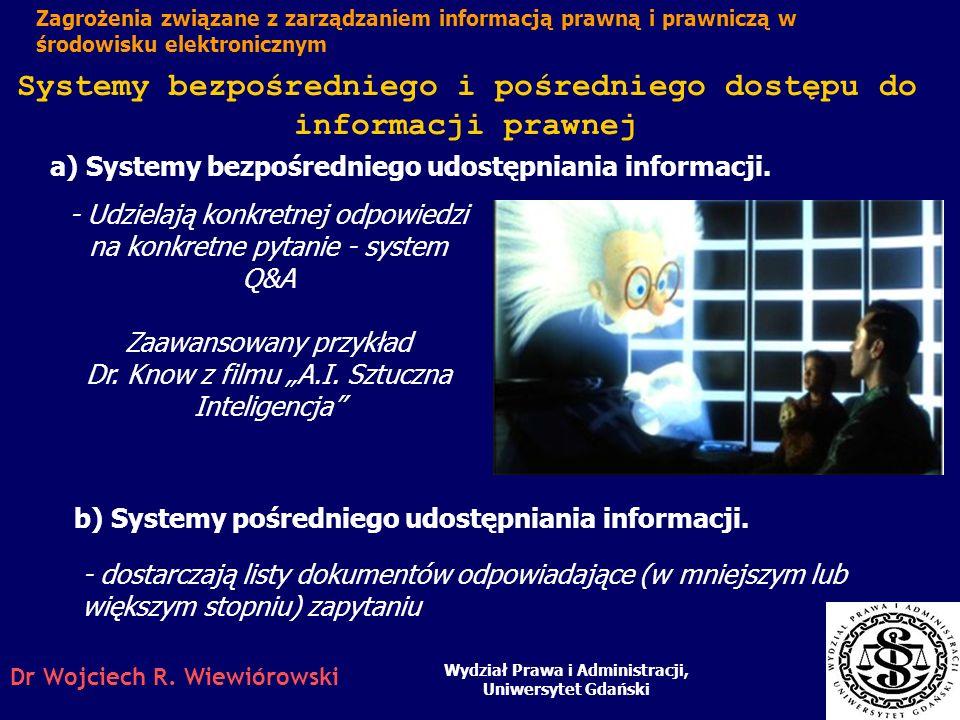 a) Systemy bezpośredniego udostępniania informacji.