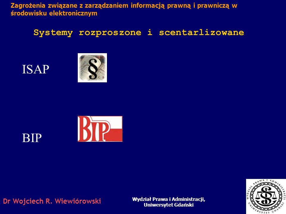 ISAP BIP Systemy rozproszone i scentarlizowane