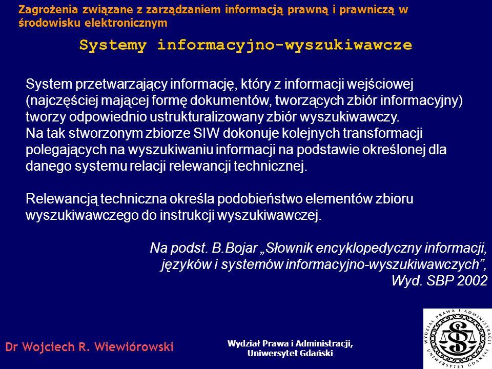 Systemy informacyjno-wyszukiwawcze