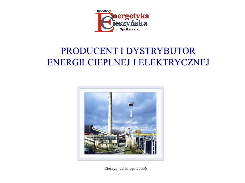 PRODUCENT I DYSTRYBUTOR ENERGII CIEPLNEJ I ELEKTRYCZNEJ