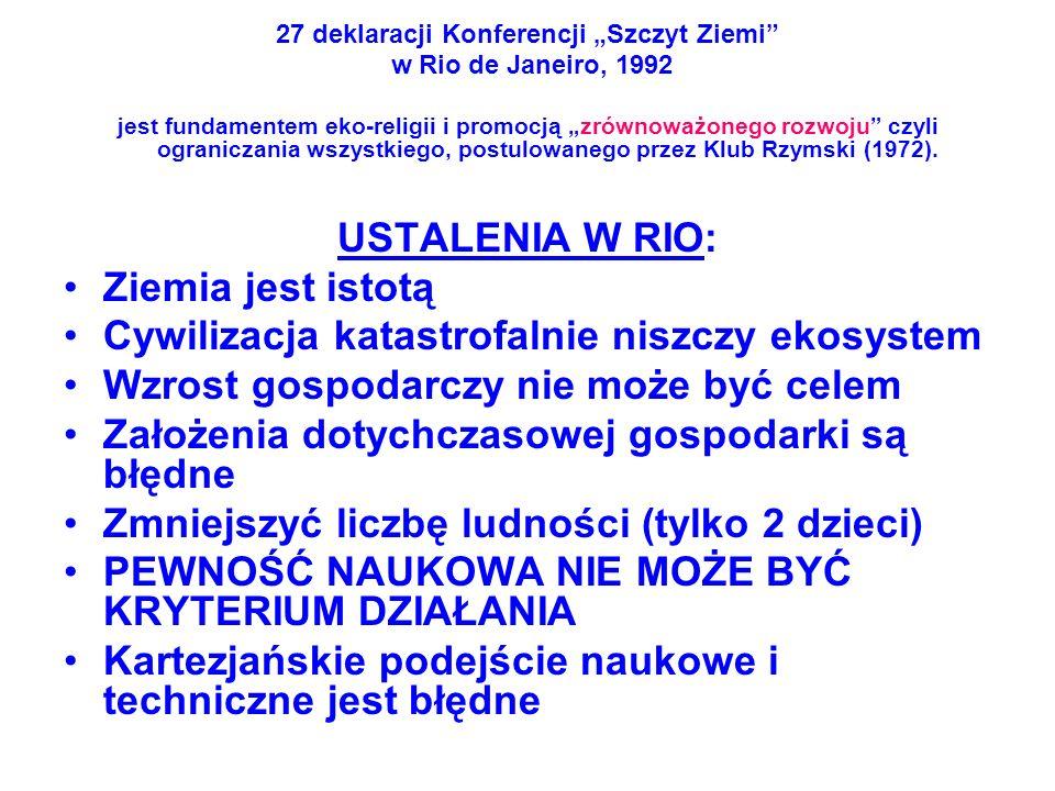 """27 deklaracji Konferencji """"Szczyt Ziemi"""