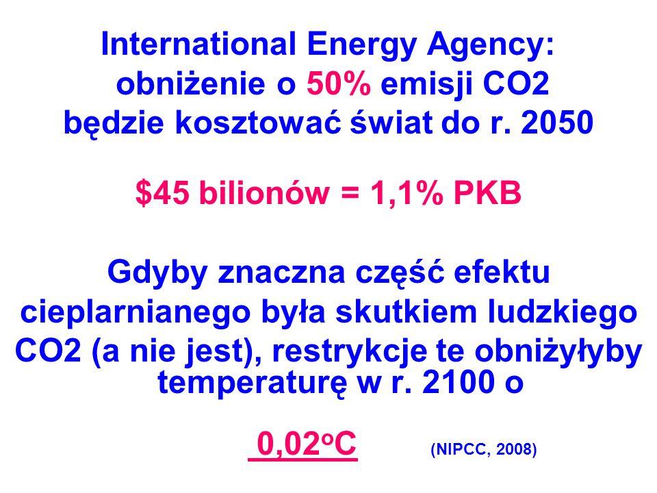 International Energy Agency: obniżenie o 50% emisji CO2
