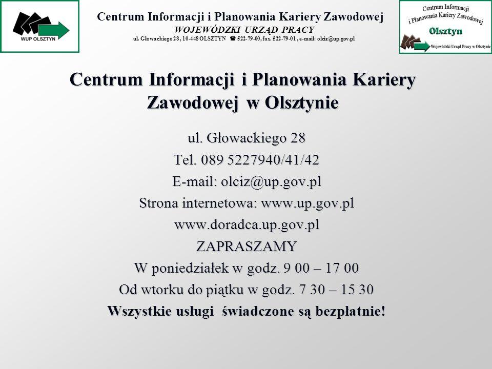 Centrum Informacji i Planowania Kariery Zawodowej w Olsztynie