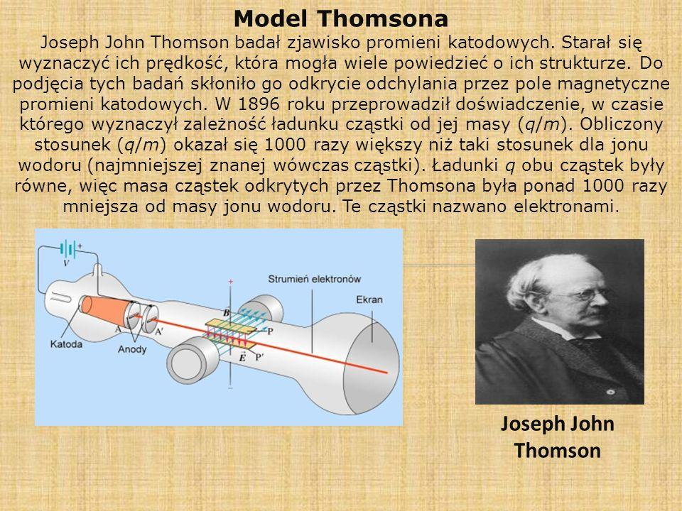 Model Thomsona Joseph John Thomson
