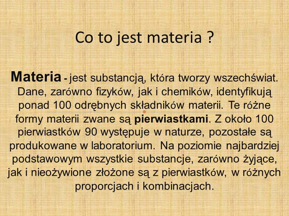 Co to jest materia