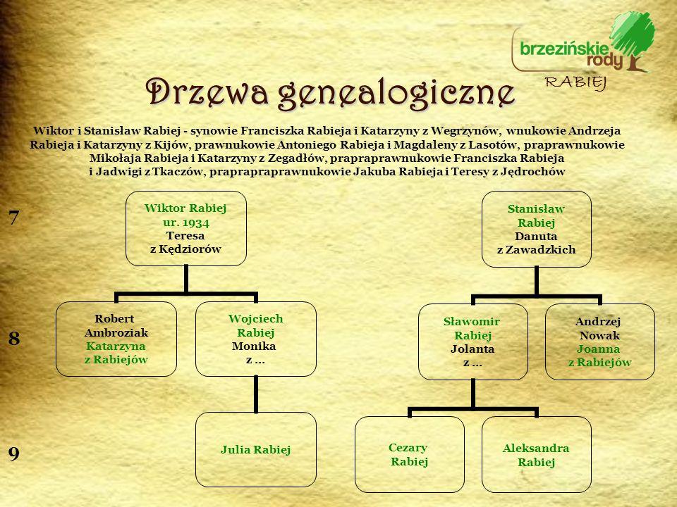 Drzewa genealogiczne RABIEJ 7 8 9