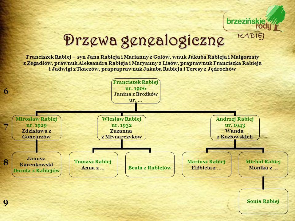 Drzewa genealogiczne RABIEJ 6 7 8 9