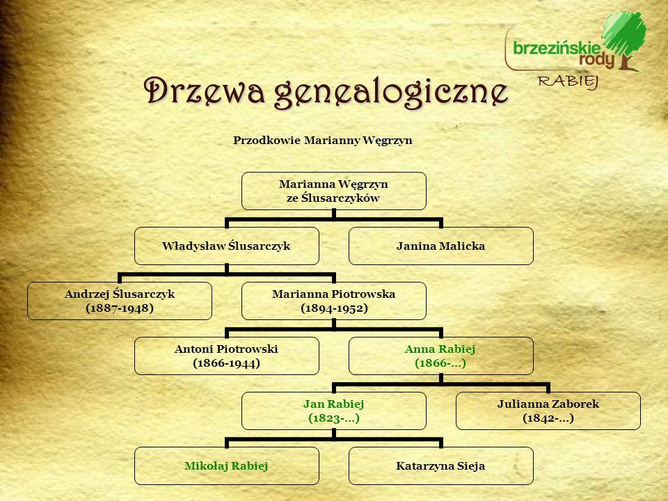 Przodkowie Marianny Węgrzyn