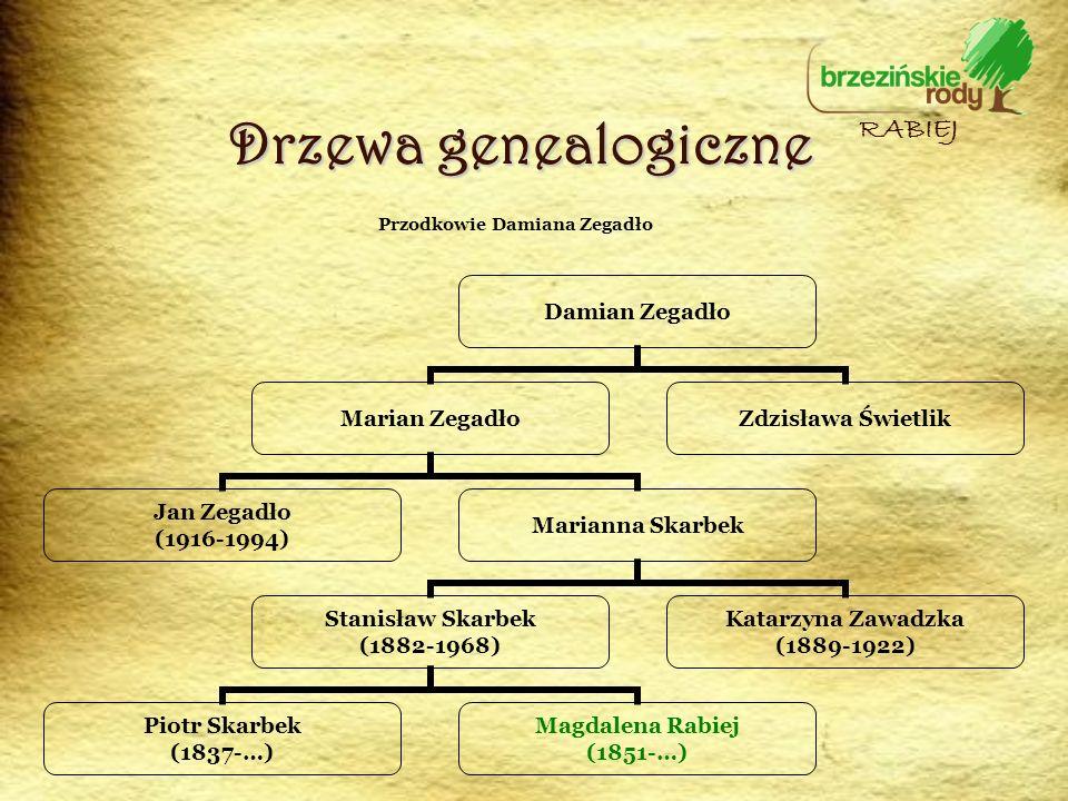 Przodkowie Damiana Zegadło