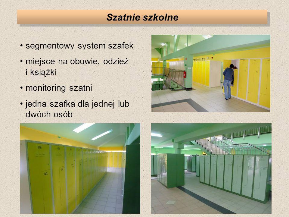 Szatnie szkolne segmentowy system szafek