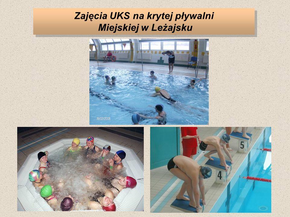Zajęcia UKS na krytej pływalni Miejskiej w Leżajsku