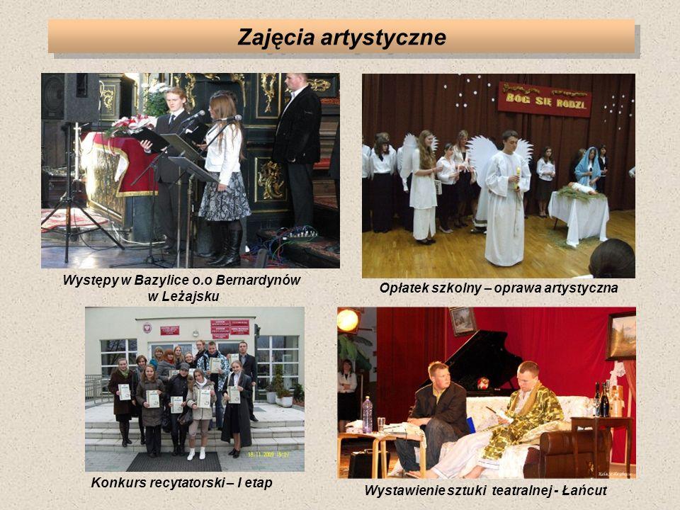 Zajęcia artystyczne Występy w Bazylice o.o Bernardynów w Leżajsku