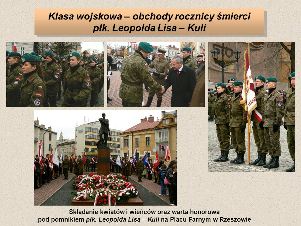 Klasa wojskowa – obchody rocznicy śmierci płk. Leopolda Lisa – Kuli