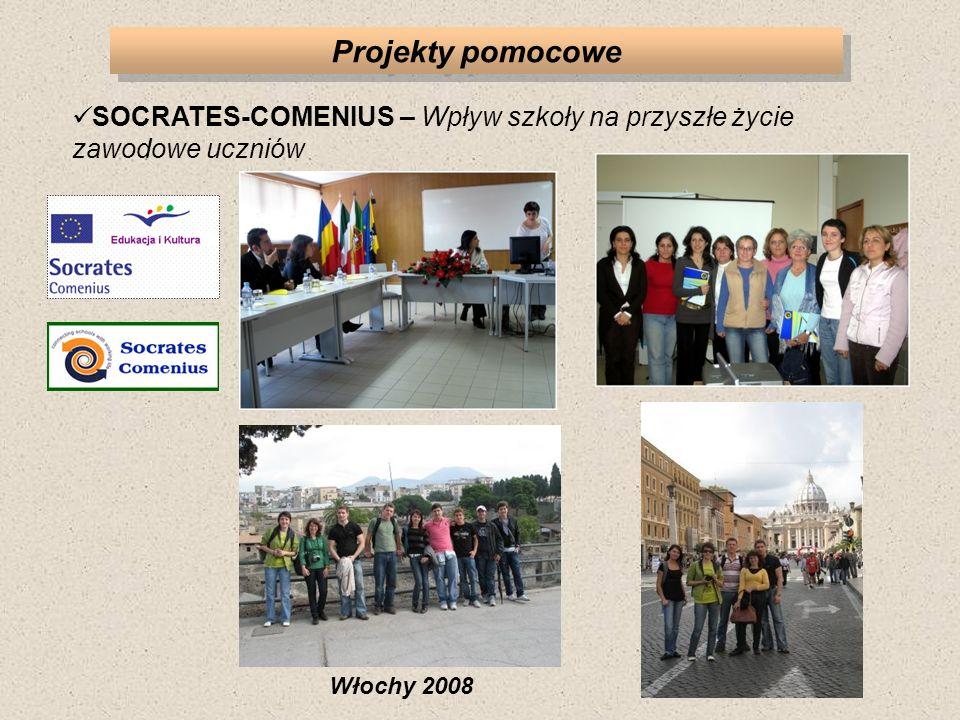 Projekty pomocowe SOCRATES-COMENIUS – Wpływ szkoły na przyszłe życie zawodowe uczniów Włochy 2008