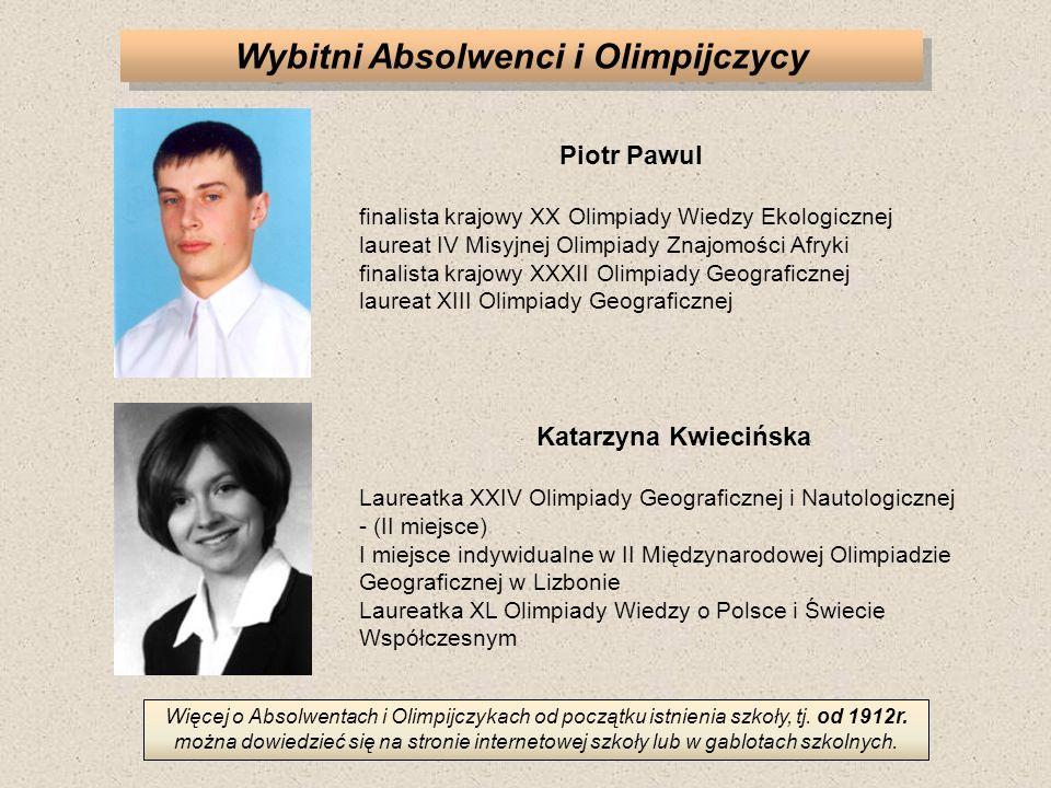 Wybitni Absolwenci i Olimpijczycy