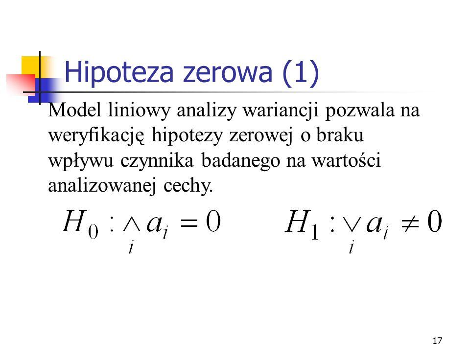 Hipoteza zerowa (1)