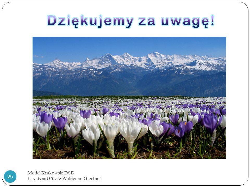 Dziękujemy za uwagę! Model Krakowski DSD